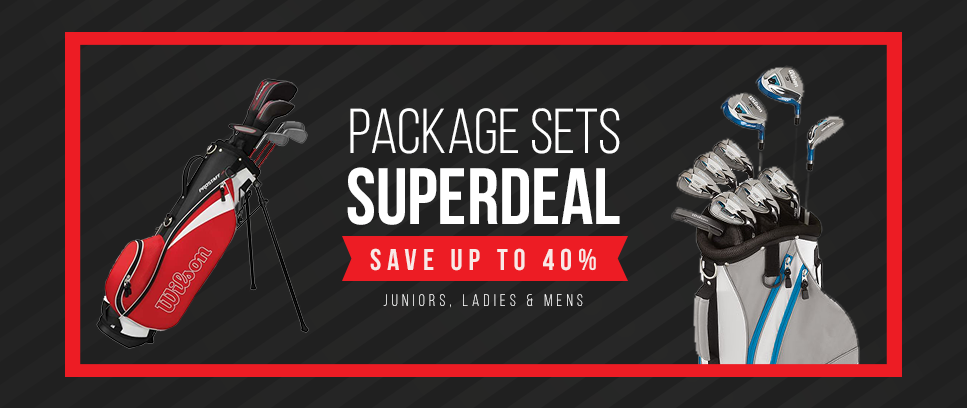 Package sets up to 40% discount - Junior, Ladies & men